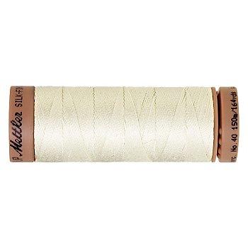 Mettler Silk Finish Cotton - Fil pour machine à coudre, écru, grosseur 40, 150 m
