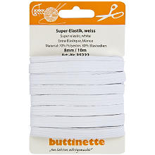 buttinette Gummiband 'Standard-Elastik', weiss, Breite: 8 mm, Länge: 10 m