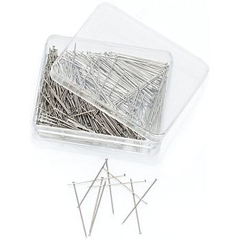 buttinette Stahlstecknadeln, silber, Länge: 30 mm, Inhalt: 35 g = ca. 500 Stück