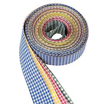 Set de rubans vichy 'multicolore', 25 mm, 4x 5 m