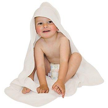 buttinette Sortie de bain pour enfants, avec capuche à broder, écru, 80 x 80 cm