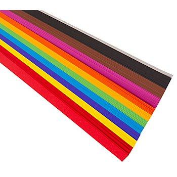 Tonpapierstreifen, bunt, 1,5 x 50 cm, 200 Stück