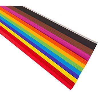 Bandes papier Quilling-10 mm, 50 cm, 200 pièces