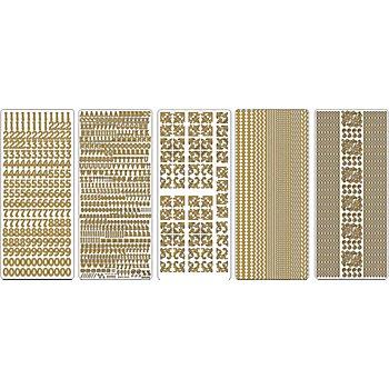 Klebesticker 'Standard-Motive', gold, 23 x 10 cm, 5 Bogen