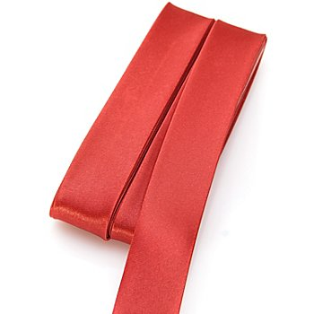 buttinette Satin-Schrägband, weinrot, Breite: 2 cm, Länge: 5 m