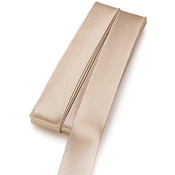 buttinette Satin-Schrägband, beige, Breite: 2 cm, Länge: 5 m