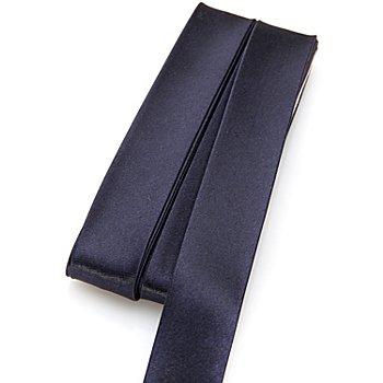 buttinette Satin-Schrägband, marine, Breite: 2 cm, Länge: 5 m