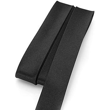 buttinette Satin-Schrägband, schwarz, Breite: 2 cm, Länge: 5 m