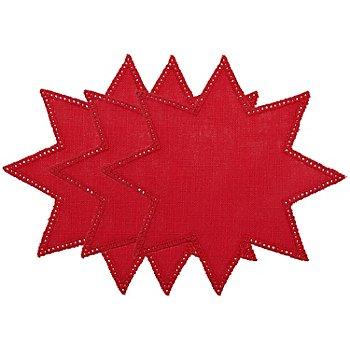 buttinette Napperons à crocheter 'étoile', rouge