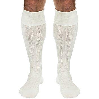 Chaussettes folkloriques pour homme, écru