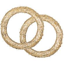 Couronnes de paille, 30 cm Ø, 2 pièces