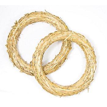 Strohkränze, 25 cm, 2 Stück
