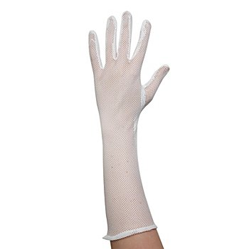 Gants filet, blanc, 40 cm