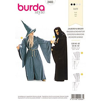 burda Schnitt 2483 'Zauberer & Magier'
