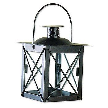 Mini lanterne en métal, noir, 8 x 8 x 10 cm