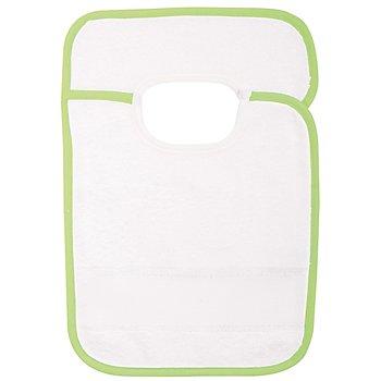 buttinette Sticklätzchen mit Klettverschluss, grün