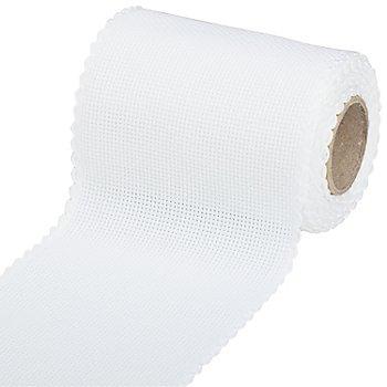 Ruban Aïda à broder, blanc, 10 cm, 5 m