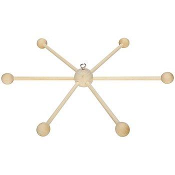Mobile-Stern aus Holz, zum Hängen, 35 cm Ø