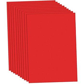 Fotokarton, rot, 50 x 70 cm, 10 Blatt