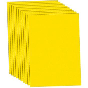 Papier cartonné jaune, 50 x 70 cm, 10 feuilles