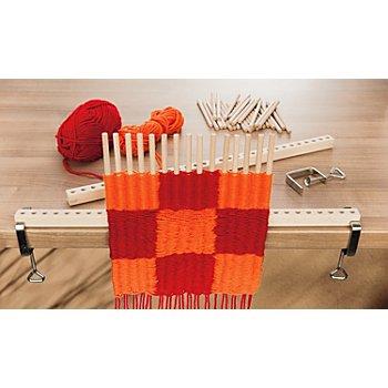 Kit métier à tisser avec tiges en bois, largeur : 100 cm