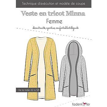 Fadenkäfer Patron 'Veste en tricot Minna' pour femmes