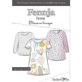 Fadenkäfer Patron 'Blouse/tunique Fennja' pour femmes