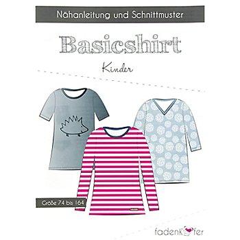Fadenkäfer Schnitt 'Basicshirt' für Kinder