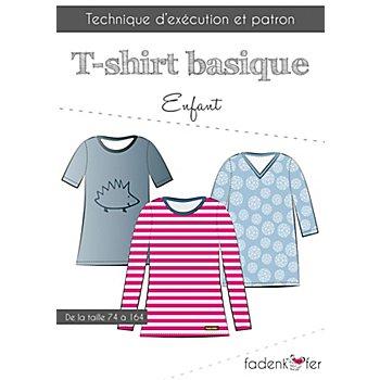 Fadenkäfer Patron 'T-shirt basique' pour enfants