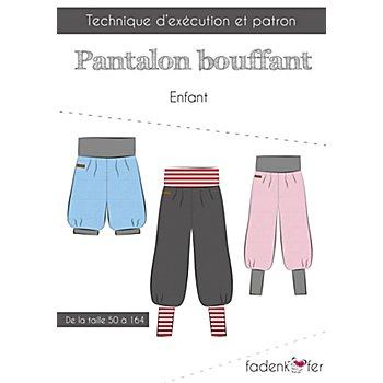 Fadenkäfer Patron 'Pantalon bouffant' pour enfants