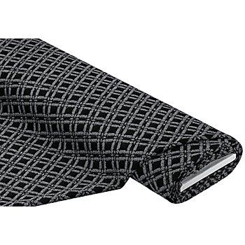 Strickstoff 'Rauten' mit Struktur, schwarz/grau