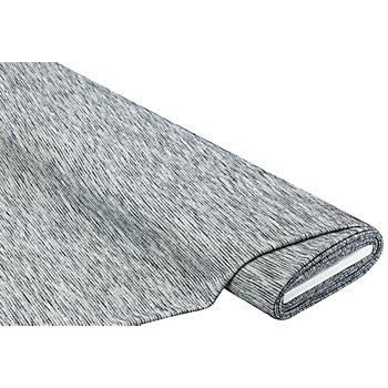 Leichtstrick mit Rippstruktur, grau-melange