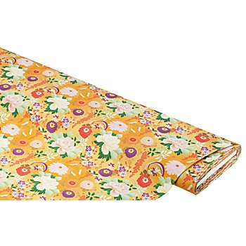 Tissu popeline en coton bio 'Japon', multicolore