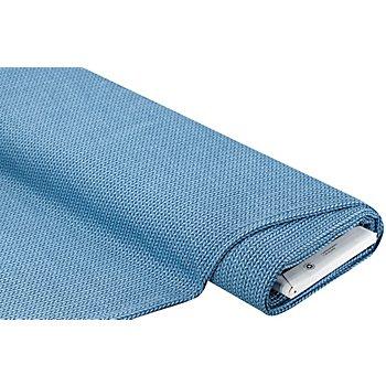 Albstoffe Bio-Jacquard-Jersey 'Big Knit' by Hamburger Liebe, blau