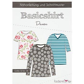 Fadenkäfer Schnitt 'Basicshirt' für Damen