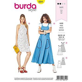 burda Schnitt 6311 'Kleid mit weitschwingendem Rock'