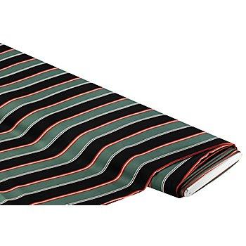 Blusen-Satin ''Streifen', grün/schwarz