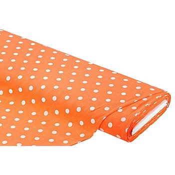 Musselin / Gaze 'Tupfen', orange/weiß