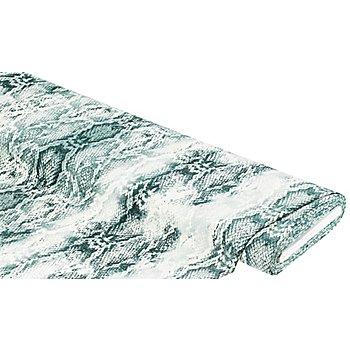 Elastik-Gewebe 'Schlangenmuster', graugrün-color