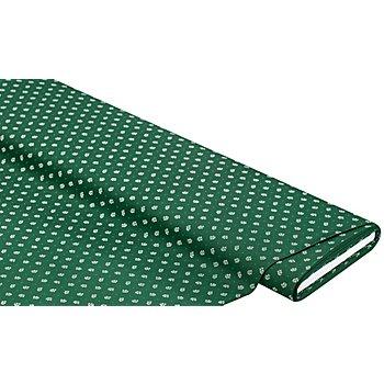 Baumwoll-Trachtenstoff 'Blümchen', dunkelgrün