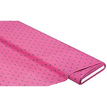 Tissu coton 'petites fleurs', rose vif multicolore