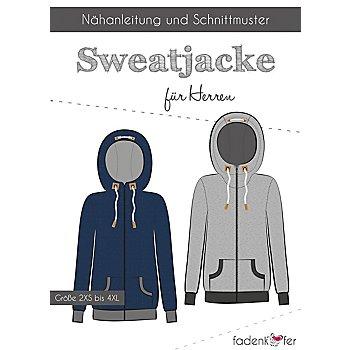 Fadenkäfer Schnitt 'Sweatjacke für Herren'