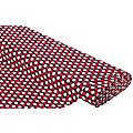 """Bademodenstoff """"Tupfen"""", marine/rot/weiß"""