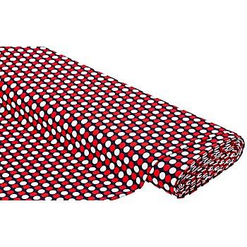 Bademodenstoff 'Tupfen', marine/rot/weiß