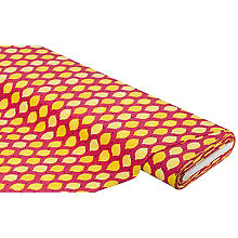 Tissu jersey en coton 'citrons', avec de l'élasthanne, rose vif multicolore