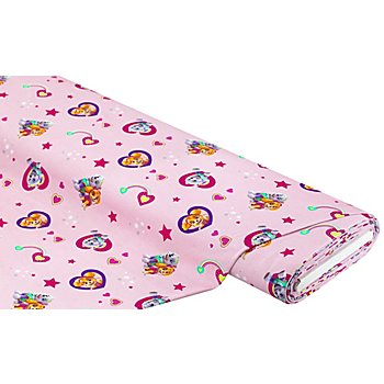 Tissu jersey en coton 'Pat'Patrouille', rose multicolore