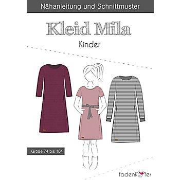 Fadenkäfer Schnitt 'Kleid Mila' für Kinder