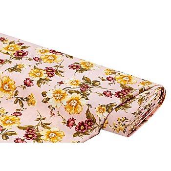 Crêpe 'Blumen', rosé-color
