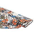 """Tissu crêpe """"léopard & fleurs"""", multicolore"""