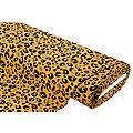 """Tissu sweat-shirt """"léopard"""", ocre/noir"""